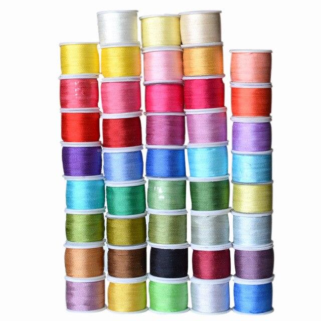 Colores cálidos, 2 mm 1/16 pulgadas de ancho 100% cinta de seda de morera pura para bordado artesanal de doble cara fina de tafetán de seda