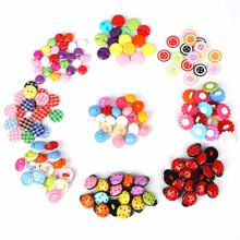 Lovely 50pcs/lot Ladybird/Flower/Smiley Plastic Sewing Decorative Buttons DIY Garment Sewing Scrapbooking Jewelry Craft Making(China)