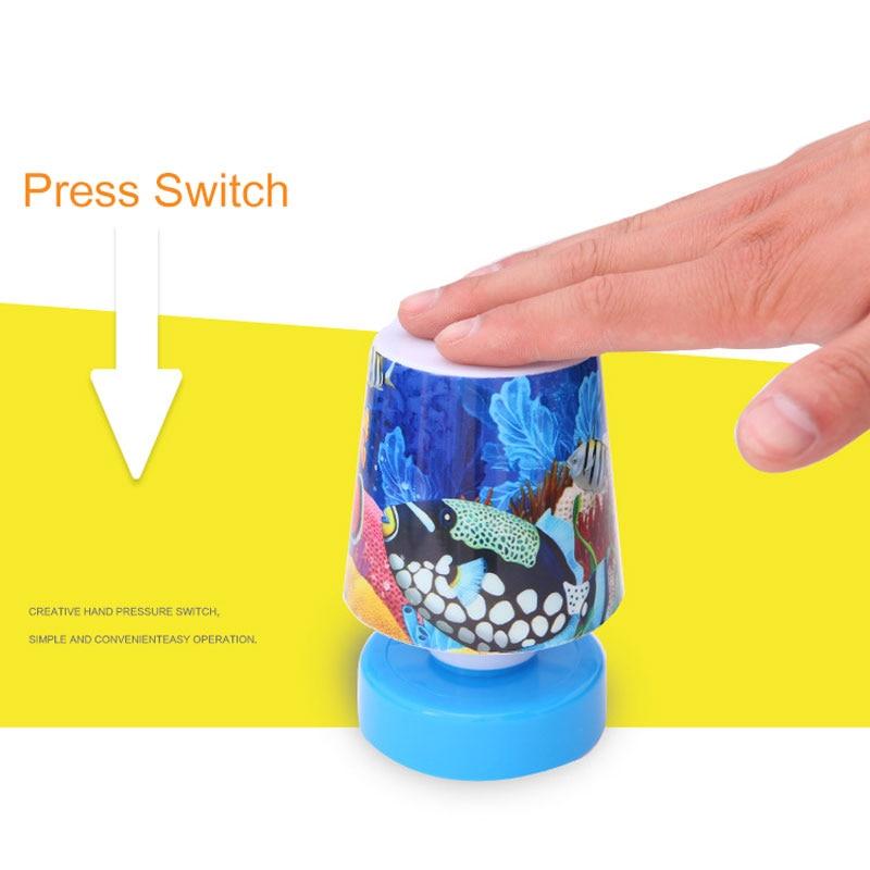 New Kids Gift Mini Cartoon Led Night Lights Cute Pat Fish Cat Light