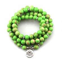 Fashion Women`s Matte 108 Beads Bracelet or Necklace High Quality Charm New Design Bracelet