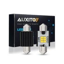 Auxito canbus led para interior automotivo, 2 peças, 31mm, 36mm e 41mm, luzes para audi a4, b6, b7 b8 a3 8p q3 lâmpada de leitura da matrícula