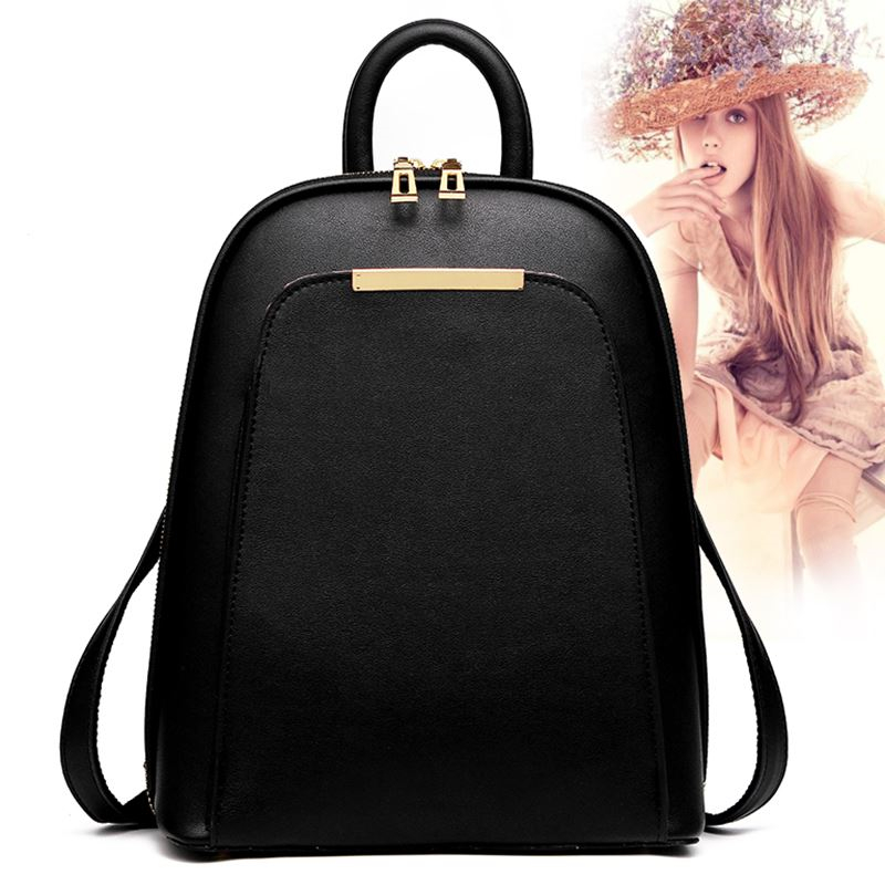 Fashion Cute Women Ladies Small Backpack PU Bagpack High Quality School Bags for Teenage Girls Package