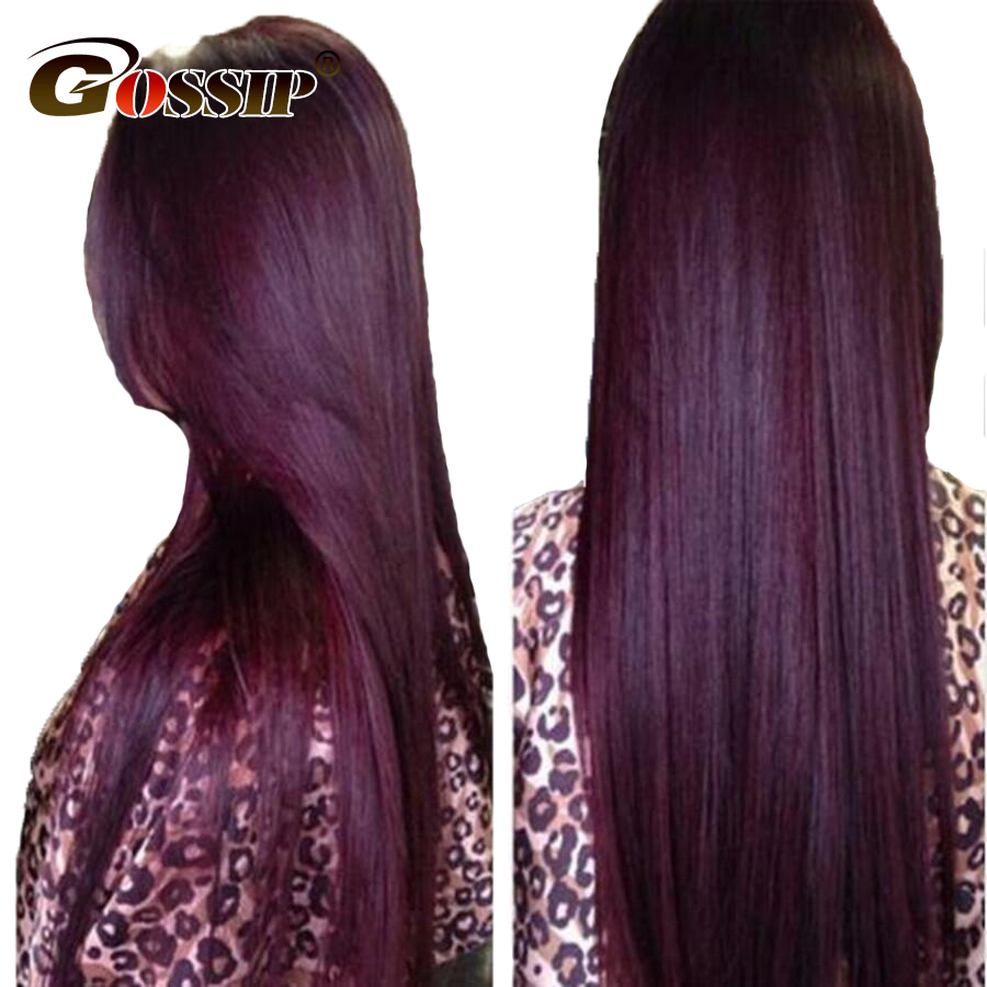 Ombre Pre Plucked Full Lace Wigs Human Hair With Baby Hair Remy Lace Front Human Hair