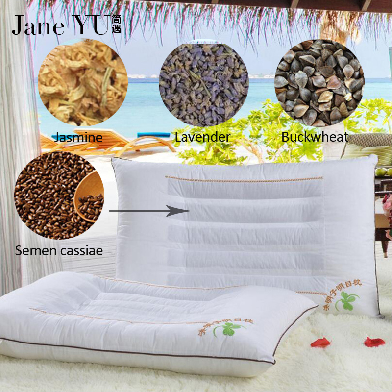 JaneYU Cassia seed/lavender/jasmine/buckwheat husk filling pillow Genuine top magnetic therapy gifts Cassia health care pillow