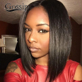 Glueless Full Lace Human Hair Wigs For Black Women Straight Brazilian Virgin Hair Lace Front U Part Wigs With Baby Hair BOB Wig