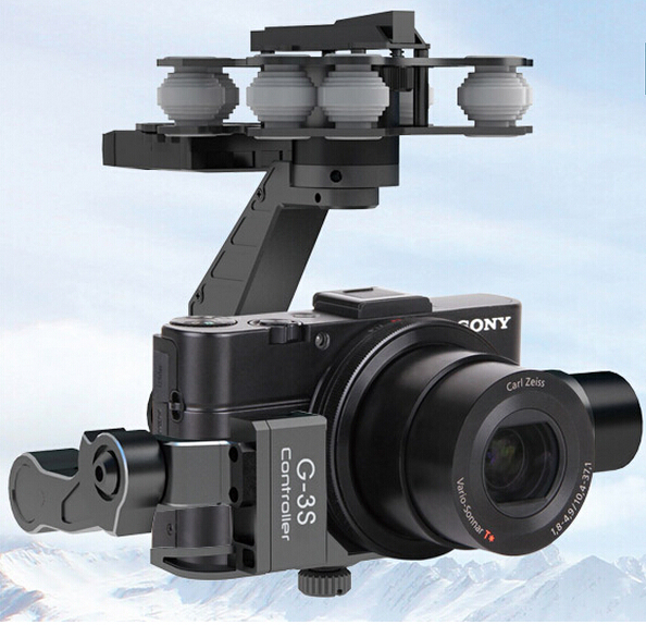 Original Walkera RC G-3S Sony Gimbal Professional metal Brushless Gimbal For Sony RX100II Camera f11088 walkera camera mount g 3dh brushless gimbal with 360 degrees tilt control
