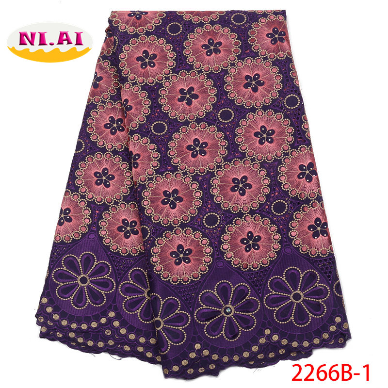 Swiss Voile Lace In Switzerland High Quality Latest Purple Lace Fabric Cotton Lace Material MR2266B