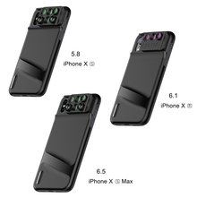 Pholes 6 in 1 Phone Lens with Case Cover for iPhone Xs Max XR Wide Angle Macro Lenses Fisheys Zoom Camera HD Lens for iPhone