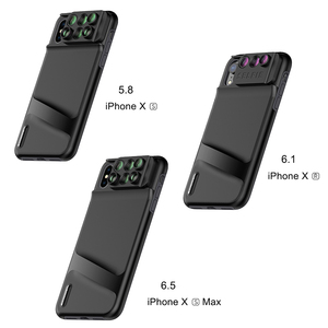 Image 1 - Pholes 6 in 1 Phone Lens with Case Cover for iPhone Xs Max XR Wide Angle Macro Lenses Fisheys Zoom Camera HD Lens for iPhone