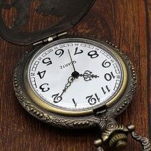 Pocket Watch Relogio De Bolso Bronze Wolf Dog Hollow Quartz Pocket Watch Necklace Pendant Women Men's Gifts  P911C