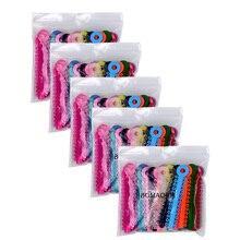 Зубные ортодонтические палочки Связки резинки кольца эластичные многоцветные 5 пакетов(1014 галстуков) стоматологии