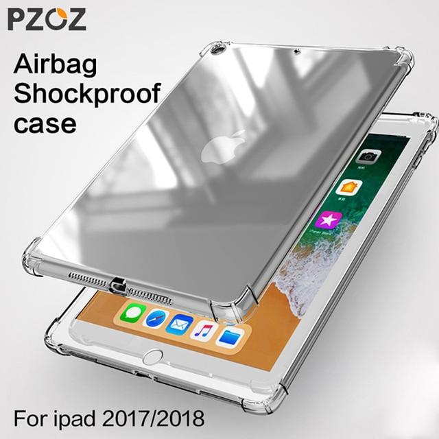 Funda PZOZ para nuevo iPad Pro 2018 2017 funda 9,7 Air mini 1 2 3 4 5 silicona transparente a prueba de golpes funda trasera de Tpu para tableta