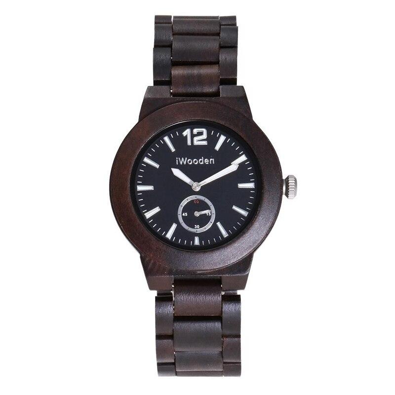 Montre pour hommes en bois personnalité créative Vintage bois de santal montres d'affaires montres à Quartz vente