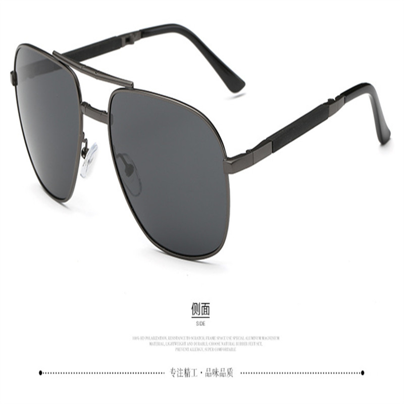 Image 4 - Olvio Vintage Folding Pilot Sunglasses Men Polarized Fashion Brand Designer Foldable Glasses Mirrored Sun Glasses For Men Oculos-in Men's Sunglasses from Apparel Accessories