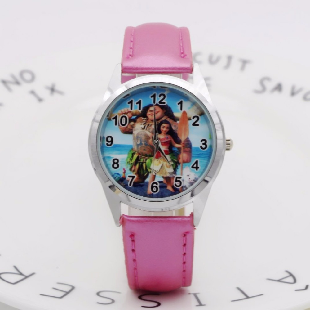 New Fashion Cartoon Moana Princess Watches Children Kids Boys Gift Watch Casual Quartz Wristwatch Clock Relojes