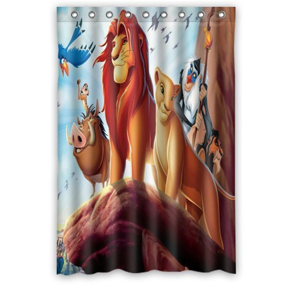 Custom The Lion King Shower Curtain High Quality
