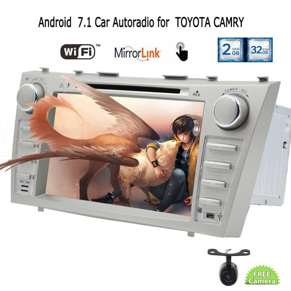 EinCar сзади Камера + Android 7,1 стерео головное устройство двойной Din gps навигации Автомобильные DVD плеер для TOYOTA CAMRY в тире