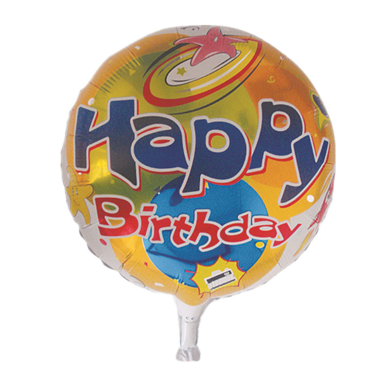 The new 18-inch round Happy Birthday balloons holiday party decorations children
