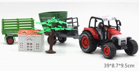 Pull Back 1 24 Mini Simulation Module Toys Combination Set Alloy Truck Farm Tractor With Animals