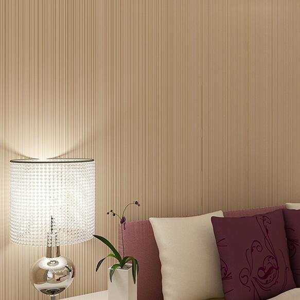 0dc3265a660d60 Fashion Simple Brown Beige Striped Wallpaper For walls 3 D Living room Sofa  Background Modern Stripes Wall paper Rolls W94-in Wallpapers from Home ...