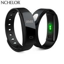 Fashion Smart Watch QS80 Bluetooth Cicret Bracelet Wristband Heart Rate Monitor Fitness tracker Bracelet for iPhone Android