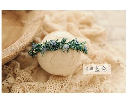 Diademas de flores para bebé accesorios de fotografía recién nacido para niñas oreja de zorro corona Floral piel de ciervo Halo Prop accesorios de unicornio infantil