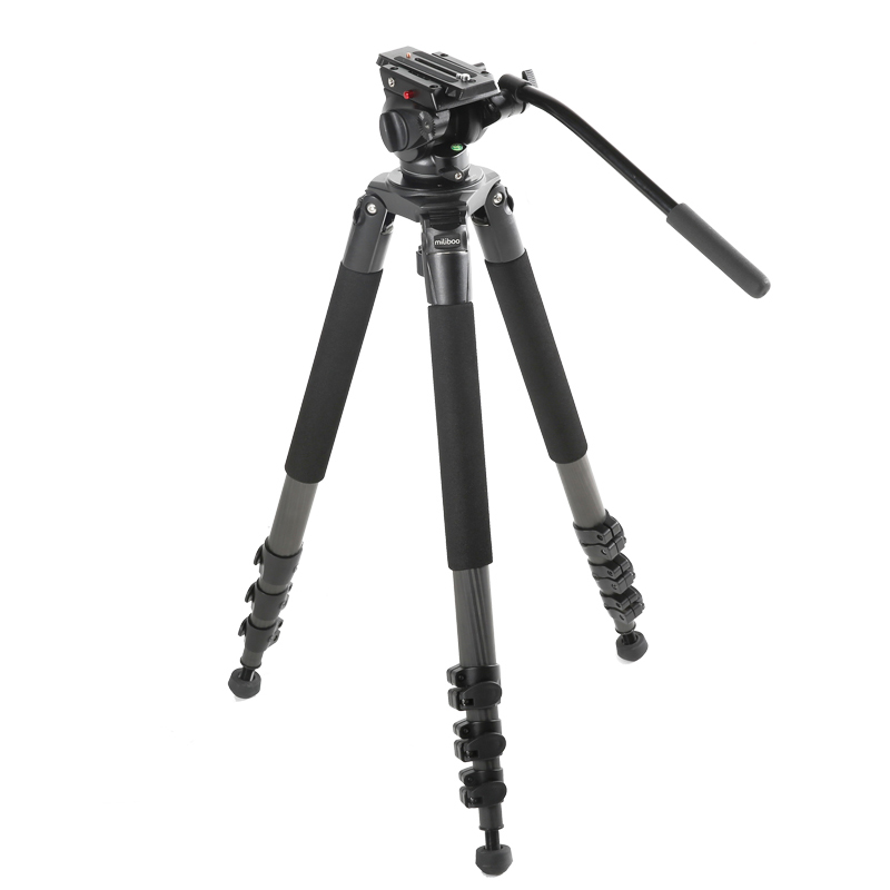 miliboo MTT702B Portable Carbon Fiber Tripod for Professional Camcorder/Video Camera/DSLR Tripod Stand,with Hydraulic Ball Head tianxun hot sale underground metal detector md 4030 gold detectors md4030 treasure hunter detector circuit metales