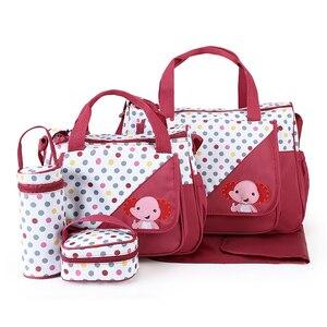 Image 4 - MOTOHOOD 5 adet bebek bebek bezi çantaları anne için değişen Nappy çanta setleri anne bebek bakım arabası bebek çantası organizatör 30*43*14cm