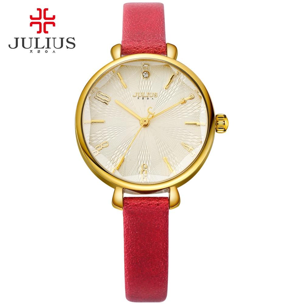 JULIUS Logo Watch Women Yellow Promotion Fashion Jewelry Clock Ladies Watches Waterproof Wristwatch Dropshipping Relogio JA-886 шапка запорожец zap classic logo sky brown yellow