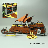 Lepin 05090 821Pcs Genuine Star War Series The Jabba S Sail Barge Set Children Educational Building