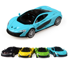 4 szín 1:32 Lépcső 15,5CM Alloy Cars P1 Sport autó Húzni Vissza Diecast Model Toy hangos fényvel Gyűjtemény Ajándék játék Fiúk Gyerekek
