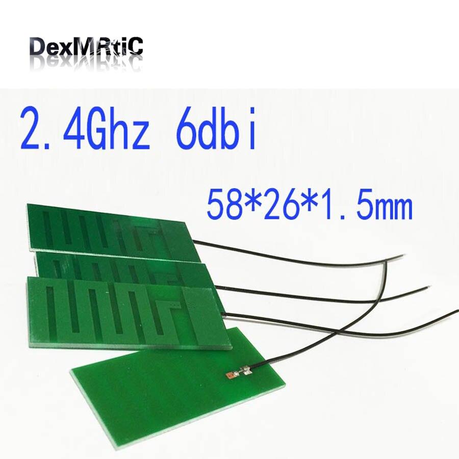 2.4Ghz 2.4g Antenna 6dbi Flat Antenna Built-in PCB Aerial Welding Soldering 58*26*1.5mm #2 Wifi Antena Booster