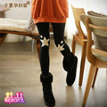 I maternity clothing 2013 autumn and winter belly pants skinny pants long trousers fashion five-pointed star plus velvet