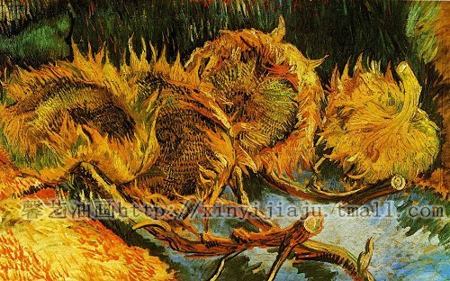 Free shipping famous oil painter Van gogh's simulating oil painting with inner frame 50cmx30cm