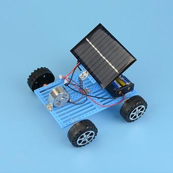 Educational Solar Car Powered by the Sun+Battery Double power Solar Powered Toys Car Kit Educational Science toys for boys 4