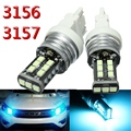 High Quality 2Pcs 3156 3157 15-3528-SMD LED Parking Daytime Running Light DRL Bulb Lamp Ice Blue Lights Bulbs