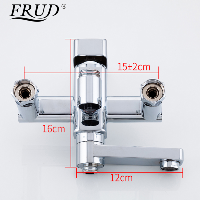 Image 5 - Frud 1Set Bathroom Rainfall Shower Faucet Mixer Tap With Hand Sprayer Wall Mounted Bath Shower system Sets Single Handle R24131-in Shower System from Home Improvement