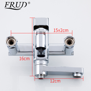 Image 5 - Frud 1Set Bathroom Rainfall Shower Faucet Mixer Tap With Hand Sprayer Wall Mounted Bath Shower system Sets Single Handle R24131