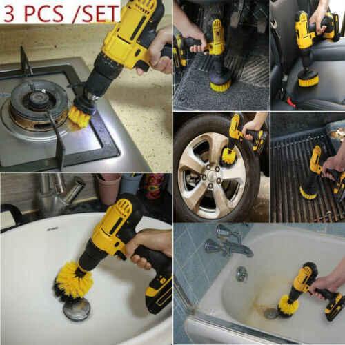 3 ピース/セット電源スクラバー洗浄ドリルブラシタイルグラウトツール浴槽クリーナーコンボ車の浴室床家庭用洗浄リサイクル