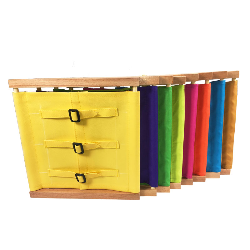 Unisex Toddler Montessori Materials Toy Wood Buttons Dressing Frame Wooden Practical Life Skill Education Toys For Children Gift