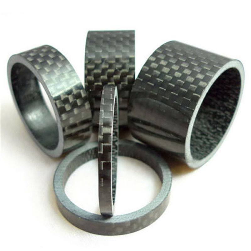 "1/8"" Matt UD Carbon Bicycle Spacer Set 3K Glossy Carbon Spacers Headset Spacer MTB 3MM 5MM 10MM 15MM 20MM Road Bike Spacers Kit(China)"