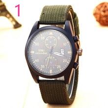 Новейшие мужские модные часы нейлоновый ремешок элегантная выразительная Повседневное Бизнес Wristwatch.48