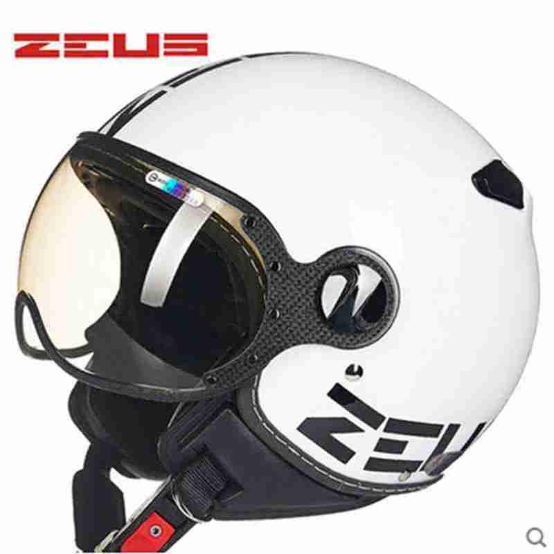 ᐃZeus 210C cara 3/4 casco capacete del motocrós de la motocicleta ...