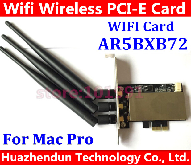 ree Shipping MACPRO AR5BXB72 300M PCI-E 1X Airport Extreme Dual frequency Wireless WIFI Card 3 antenna For All Mac Pro 2006-2012 кабель питания 20 shippment mac pro g5 mac 6pin 2 pci e 6pin 4500 gtx285 hd4870 hd5770 gtx285