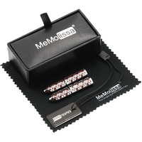 MMS Red Cross Folding Stick Cufflink Display Box Wiping Rag And Tag Gift For Men Or