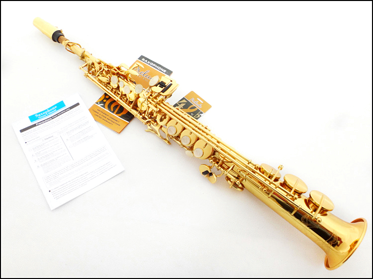 French Selmer High-pitch Soprano Saxophone One Piece Straight B Flat Saxe Top Musical Instrument sax boquilha Saxofone