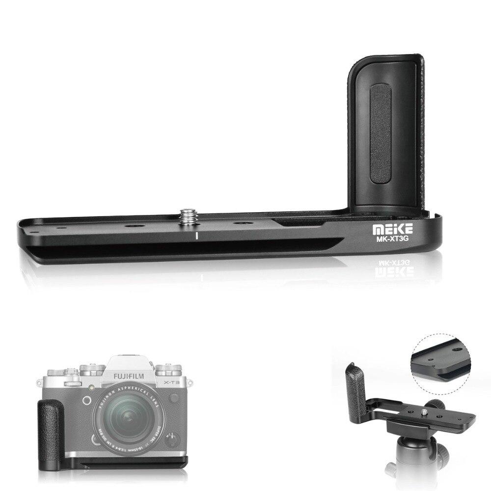 Meike MK-XT3G poignée en alliage d'aluminium plaque de fixation rapide L support pour appareil photo Fujifilm Fuji X-T3 XT3