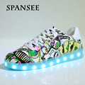 Size35-45 moda brillante luminosa zapatillas con suelas ligeras zapatillas infantil chicos shoes entrenadores blanco usb con luz led up shoes