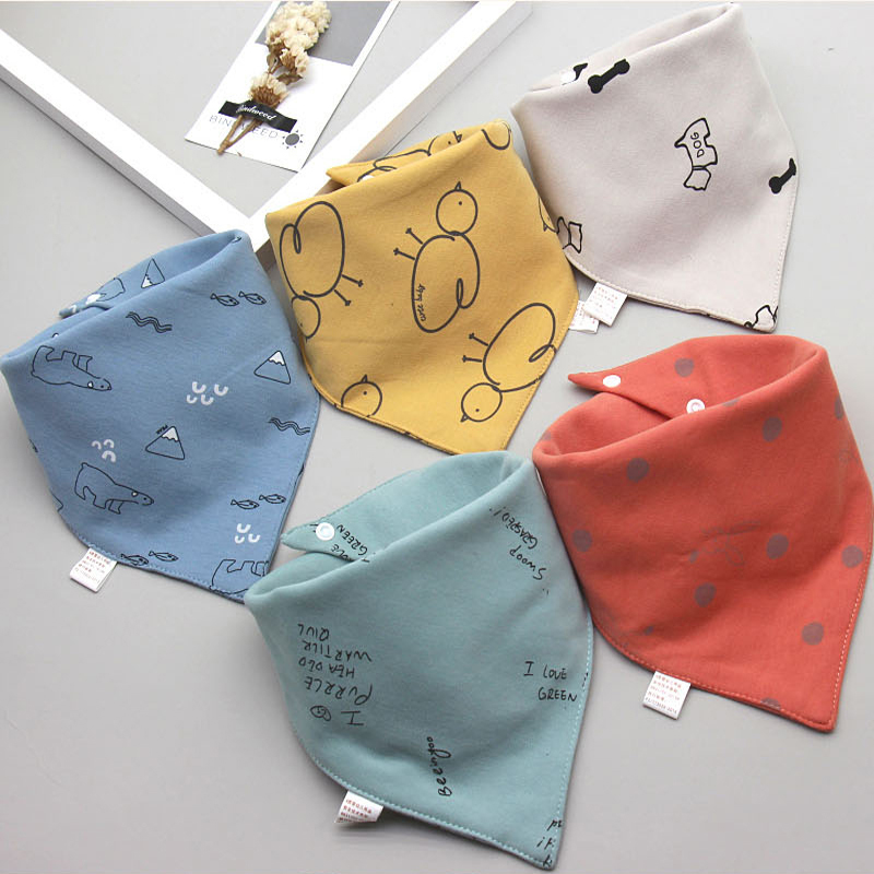 AZEOSHE Baby Bibs Triangle Double 5 pieces/lot Cotton