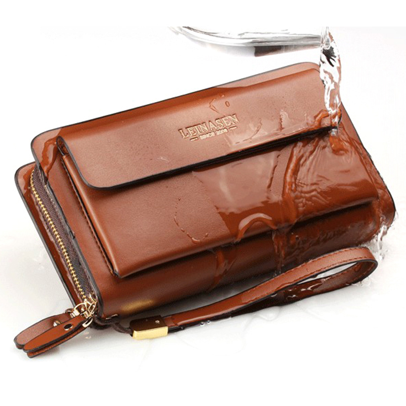 Leather Man Long Big Wallet Male Purse Man'